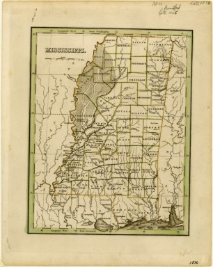 Mississippi map 1833